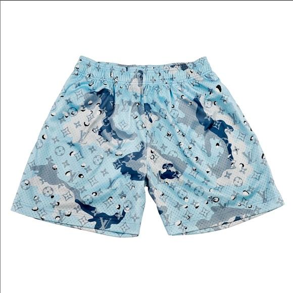 Blue camo Bravest Studios LV shorts